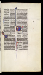 Historiated Initial To Psalm 38 With King David Pointing To His Mouth, In Peter Lombard, Commentary On The Psalms